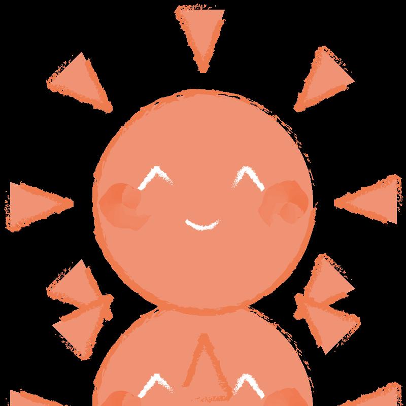 太陽(おひさま)   フリーイラスト素材のぴくらいく 商用利用可能です